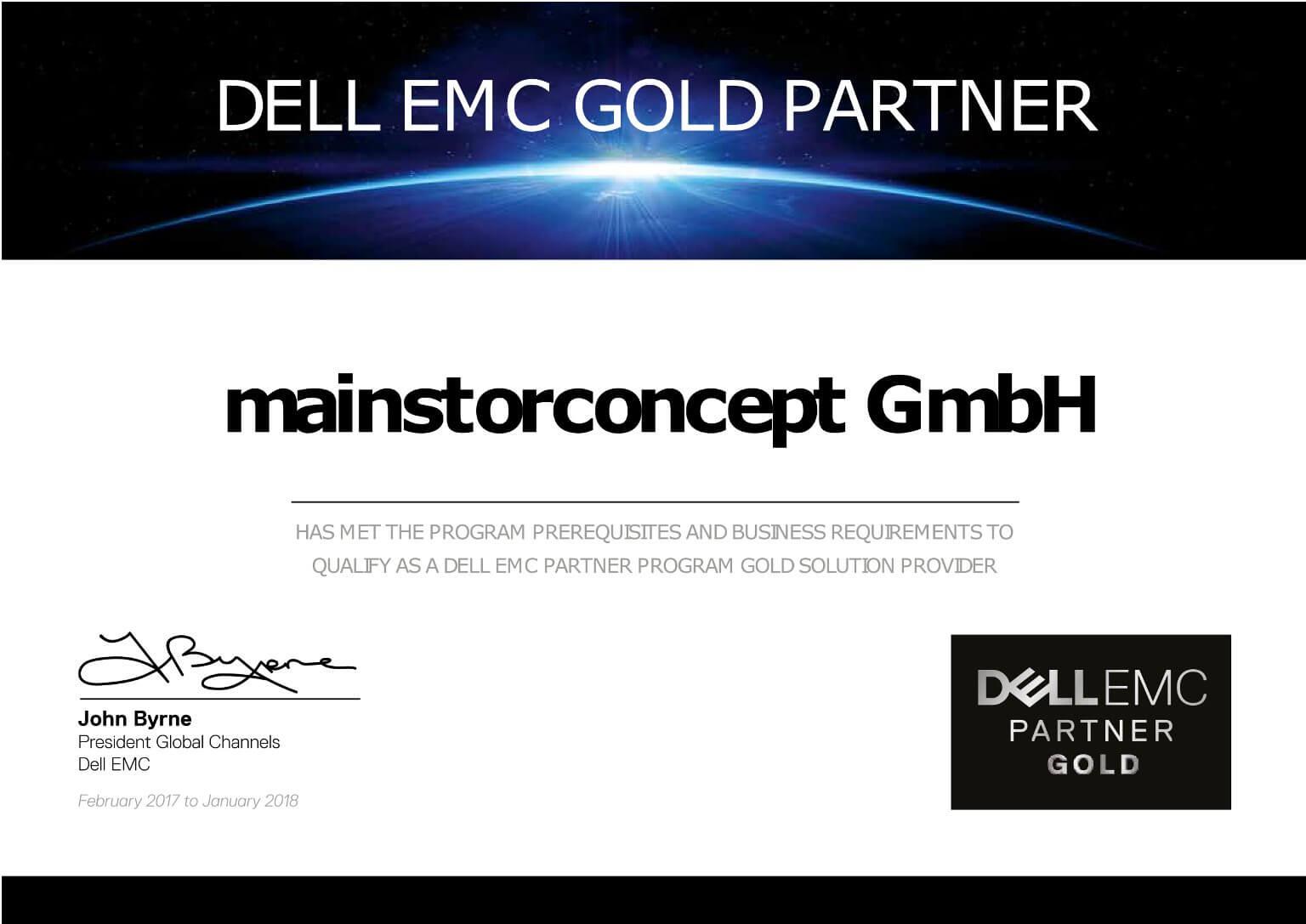 dell emc certificate